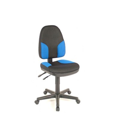 Alvin Monarch Office Chair Black with Blue Accents CH555-85