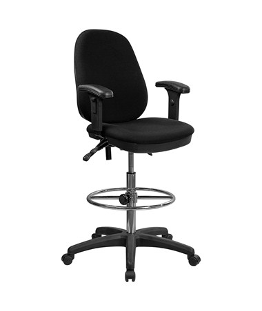 Flash Furniture Drafting Chair with Arms KC-B802M1KG-ARMS-GG