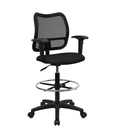 Flash Furniture Mesh Drafting Chair with Arms WL-A277-BK-AD-GG