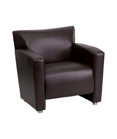 HERCULES Majesty Series Brown Leather Chair [222-1-BN-GG] FLF222-1-BN-GG