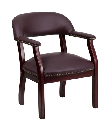 Burgundy Leather Luxurious Conference Chair [B-Z105-LF19-LEA-GG] FLFB-Z105-LF19-LEA-GG