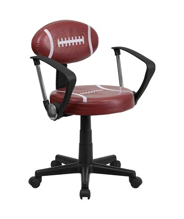 Flash Furniture Football Task Chair with Arms BT-6181-FOOT-A-GG