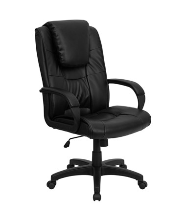 High Back Black Leather Executive Office Chair [GO-5301BSPEC-CH-BK-LEA-GG] FLFGO-5301BSPEC-CH-BK-LEA-GG