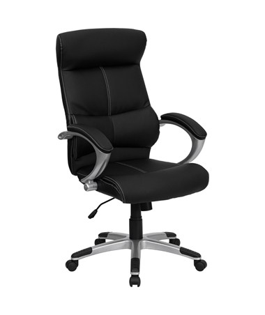 High Back Black Leather Executive Office Chair [H-9637L-1C-HIGH-GG] FLFH-9637L-1C-HIGH-GG