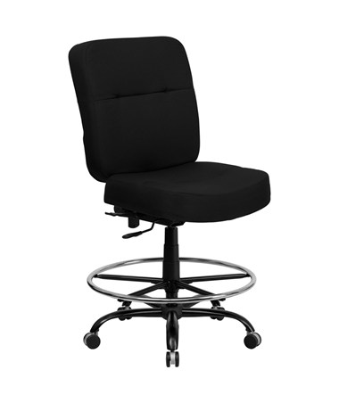 HERCULES Series 400 lb. Capacity Big & Tall Black Fabric Office Chair with Extra WIDE Seat [WL-735SYG-BK-GG] FLFWL-735SYG-BK-GG