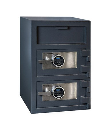 Hollon 30 x 20 B-Rated Double Door Depository Safe - 2 SecuRam Prologic L22 Electronic Locks FDD-3020EE-PRL
