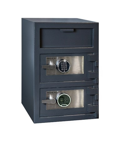 Hollon 30 x 20 B-Rated Double Door Depository Safe - S&G Spartan Electronic and Biometric Locks - FDD-3020EE-BIO