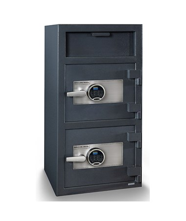 Hollon 40 x 20 Double Door B-Rated Depository Safe - 2 SecuRam Prologic L22 Electronic Locks FDD-4020EE-2PRL