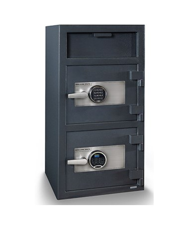 Hollon 40 x 20 Double Door B-Rated Depository Safe - S&G Spartan and SecuRam Prologic L22 Electronic Locks