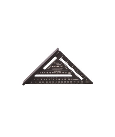 Johnson Level Magnetic Johnny Square Professional Easy-Read Aluminum Rafter Square JOH1959-0700