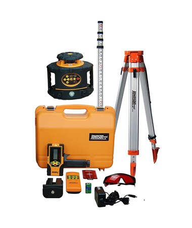 Johnson 40-6558 Electronic Self-Leveling Rotary Laser Kit with Aluminum Tripod and Grade Rod JOH40-6558