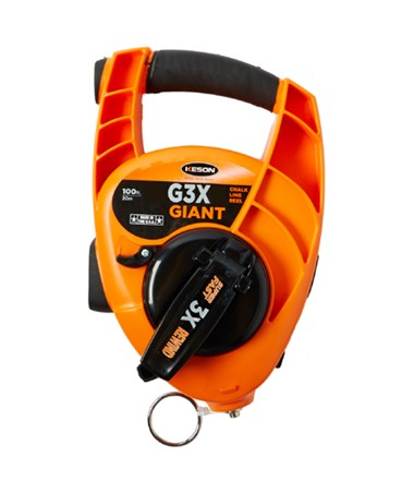 Keson 100 Feet 3X High Speed Giant Chalk Line Reel KESG3X-