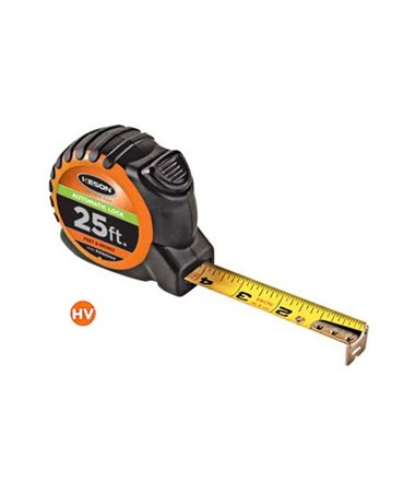 Keson 25 Feet Automatic Lock Short Tape KESPG1825AL- (Orange case)