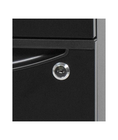 Luxor Mobile Pedestal File Cabinet Workstation Locking Bottom Drawer KDPEDESTAL