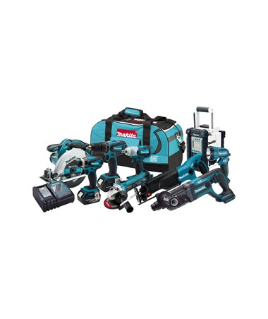 Makita LXT902 18V LXT Lithium-Ion Cordless 9-Pc. Combo Kit MAKLXT902