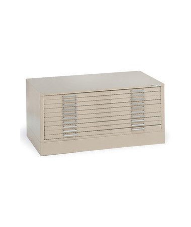 Mayline C-File 10-Drawer Steel Flat File with Flush Base