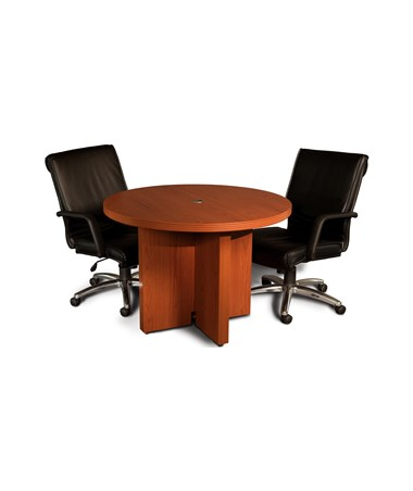 Mayline Aberdeen Series 42-Inch Round Conference Table with Chairs MAYACTR42 Cherry