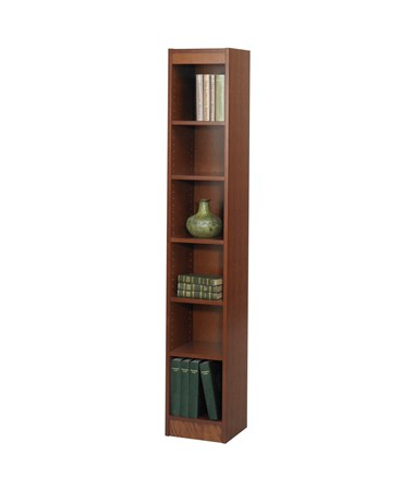 "Safco 12""W 6-shelf Veneer Baby Bookcase cherry 1511CYC"