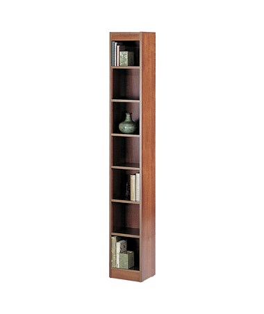 "Safco 24""W 6-shelf Veneer Baby Bookcase Cherry 1514CYC"