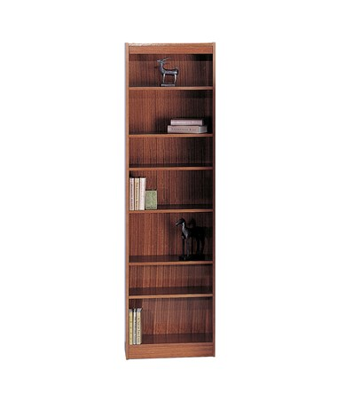 "Safco 24""W 7-shelf Veneer Baby Bookcase Cherry 1515CYC"