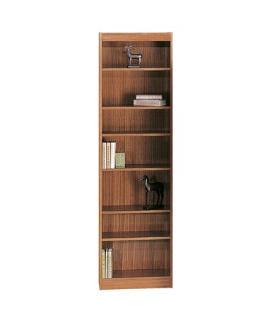 "Safco 24""W 7-shelf Veneer Baby Bookcase Medium Oak 1515MOC"