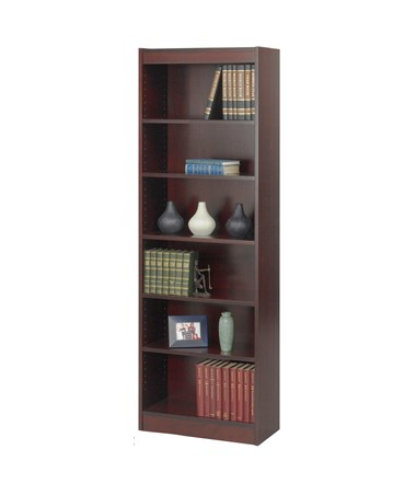 "Safco 24""W 6-shelf Veneer Baby Bookcase Medium Oak 1512CYC"