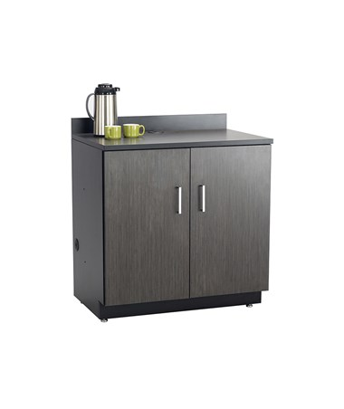 Safco Hospitality Base Cabinet, Two Door, Black 1702AN