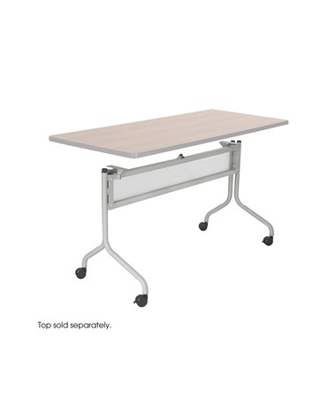 "Safco Impromptu Table Base - 49.25""W Silver"