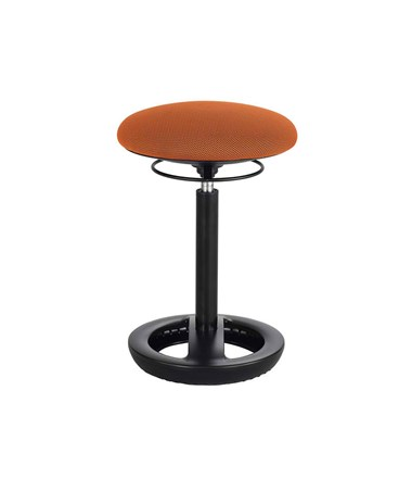 Safco Twixt Active Seating Chair, Desk-Height, Orange 3000OR