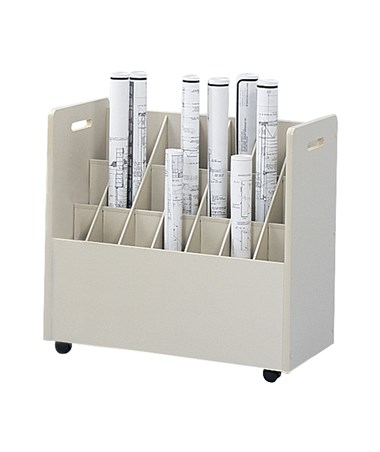 Safco Mobile Roll File, 21 Compartments SAF3043
