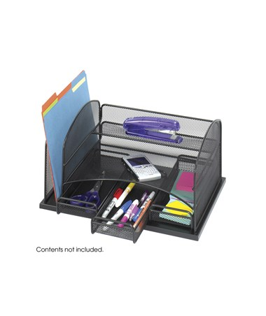 SAFCO Onyx™ Organizer With 3 Drawers Black SAF3252BL