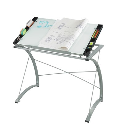 Safco Xpressions Glass Top Drafting Table SAF3966TG