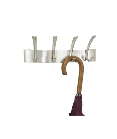 Safco Metal Silver Coat Rack (Qty. 6), Four Hooks SAF4205SL