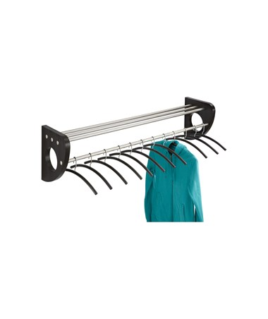"SAFCO4213-Mode™ 48"" Wood Wall Coat Rack With Hangers SAF4213"