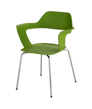 Safco Bandi Shell Stack Chair Green 4275GN