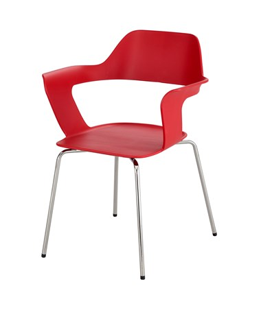 Safco Bandi Shell Stack Chair RED 4275RD