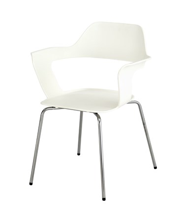 Safco Bandi Shell Stack Chair White 4275WH