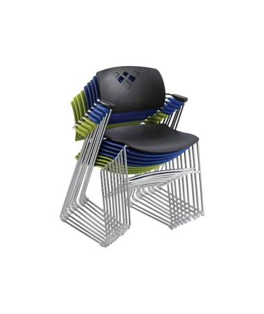 Safco Veer Flex Frame Stacking Chair (Qty. 4) SAF4286BU-