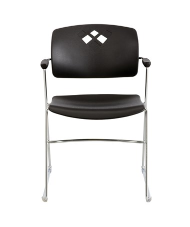 Safco Veer Flex Frame Stacking Chair Black 4286BL