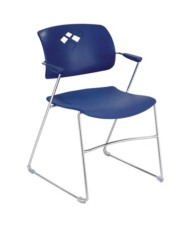 Safco Veer Flex Frame Stacking Chair Blue 4286BU