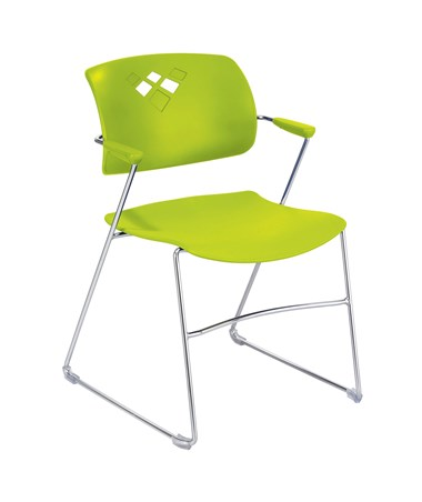 Safco Veer Flex Frame Stacking Chair Grass 4286GS