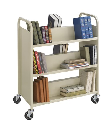 Safco Steel Double-Sided Book Cart - 6 Shelves SAF5357SA