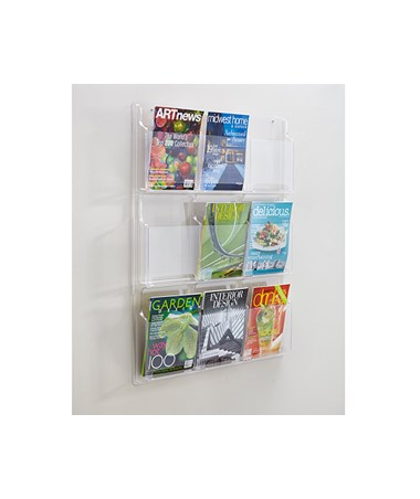 SAFCO5603CL-Reveal™ 9 Magazine Display Clear SAF5603CL