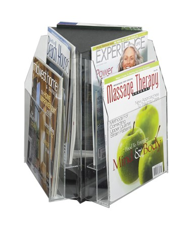 SAFCO5698CL-Reveal™ 6 Magazine Tabletop Displays Clear SAF5698CL