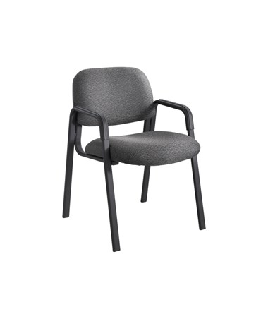 Safco Cava Urth Guest Chair Straight Leg, Black 7046BL