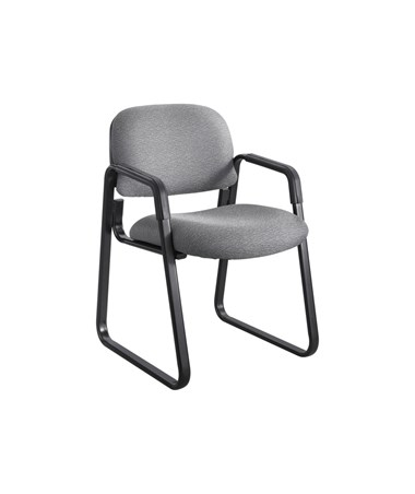 Safco Cava Urth Guest Chair Sled Base, Gray 7047GR