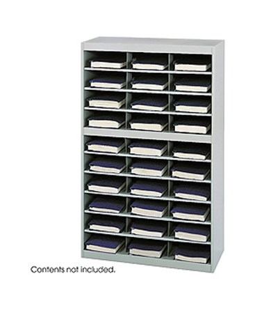 SAFCO9274GR-E-Z Stor® Steel Project Organizer, 30 Compartments Gray SAF9274GR