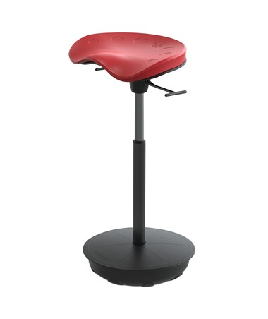 Safco Pivot Seat by Focal Upright Chili Pepper FWS-1000-RD