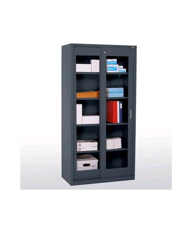 Sandusky Lee Elite Series Sliding Door Storage Cabinet (Clear View Door)