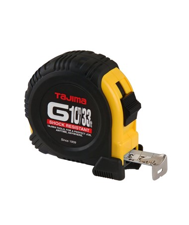 Tajima G-Series Dual Scale Standard And Metric Tape Measure, 33 ft./10M G-33-10MBW